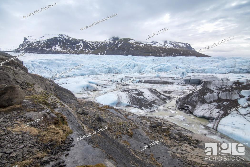 Stock Photo: Svinafellsjokull glacier in Iceland.