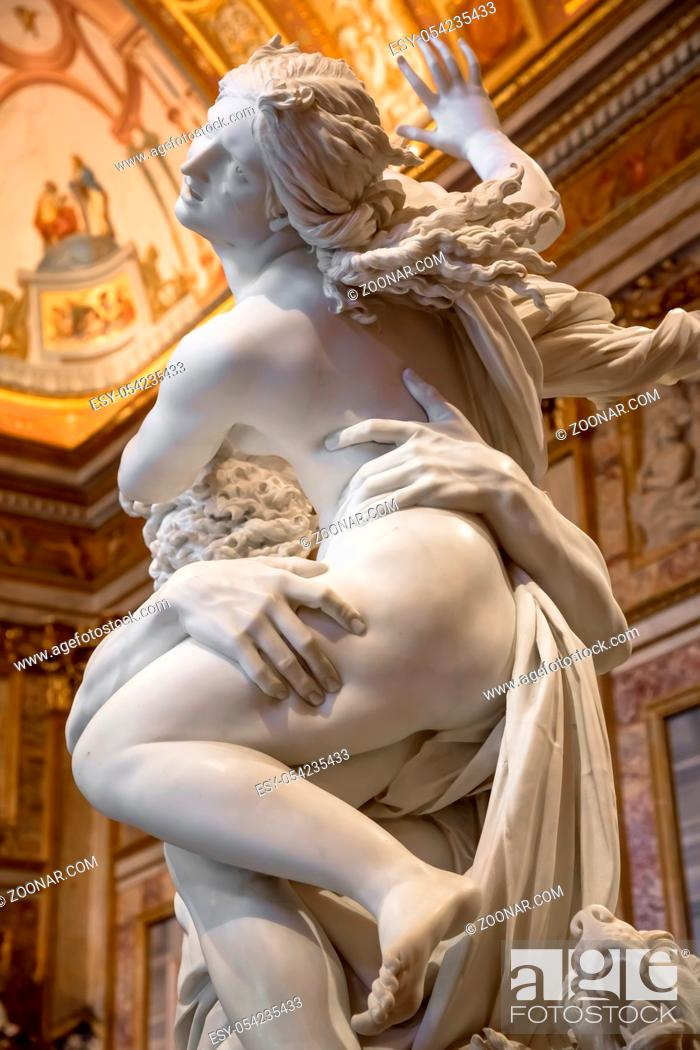 Stock Photo: ROME, ITALY - AUGUST 24, 2018: Gian Lorenzo Bernini masterpiece, The Rape of Prosperina, dated 1622.