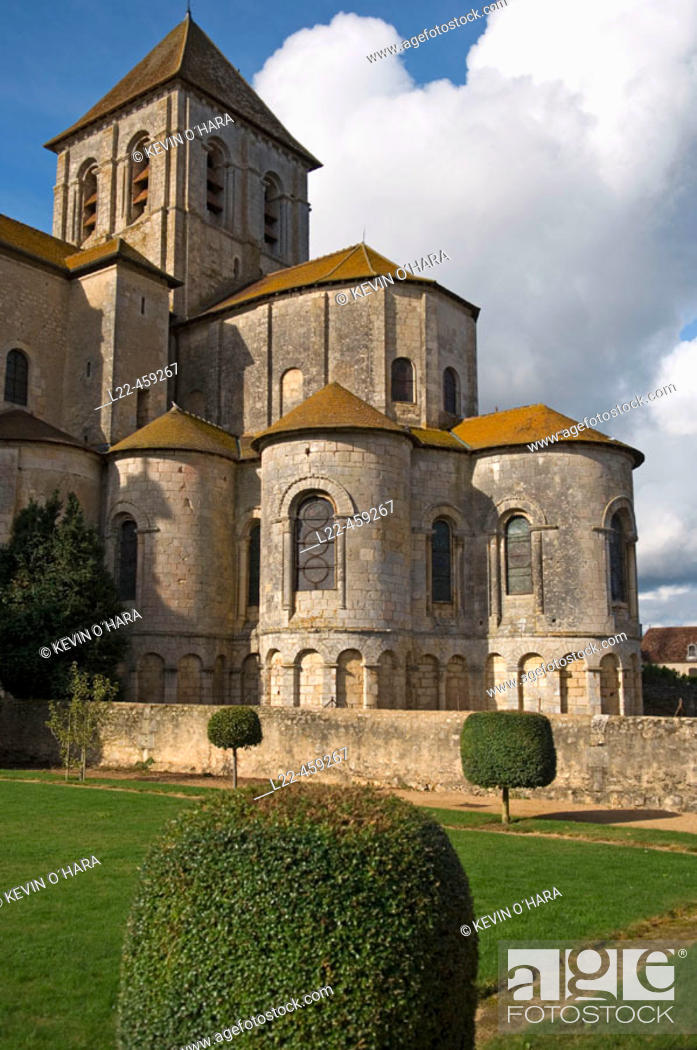 Stock Photo: Church of Saint Savin sur Gartempe. Known as the 'Romanesque Sistine Chapel', the Abbey. Church of Saint Savin contains many beautiful 11th.  and 12th.