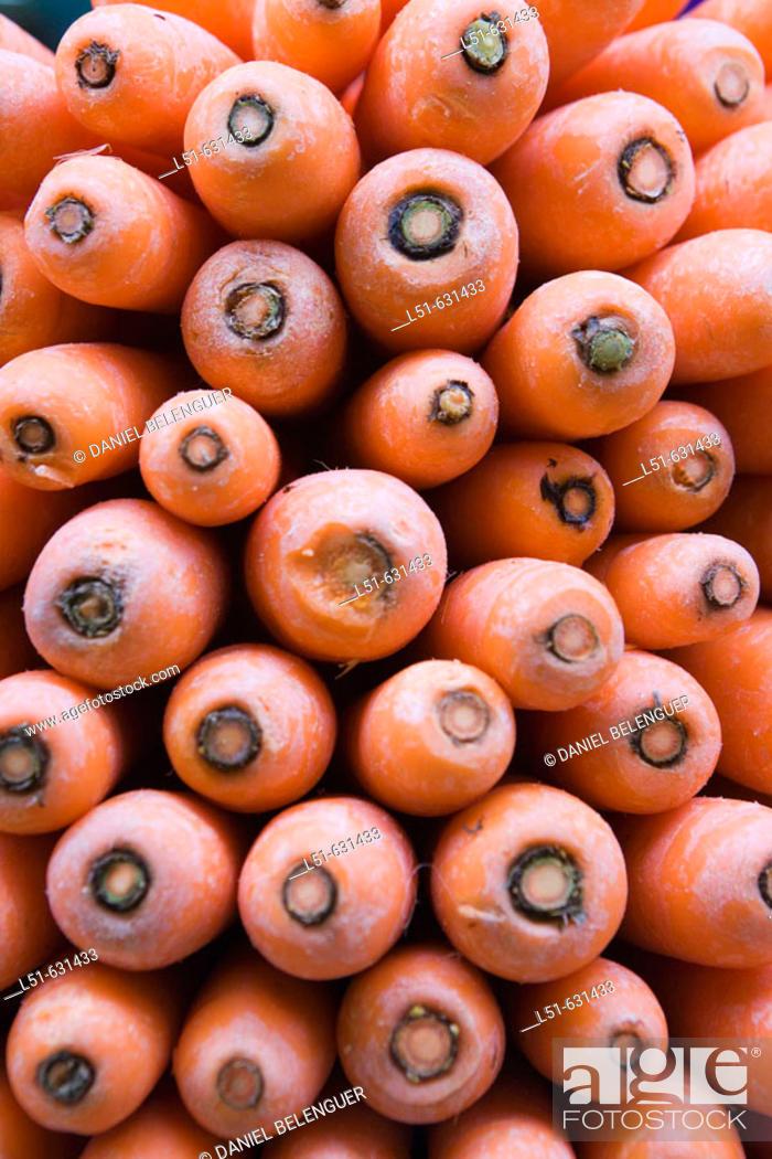 Stock Photo: Carrots. Valencia, Comunidad Valenciana, Spain.