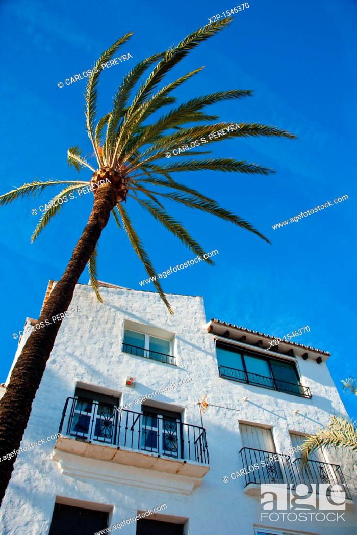 Stock Photo: Puerto Banus, the most luxury place in Costa del Sol, Andalucia, Spain.