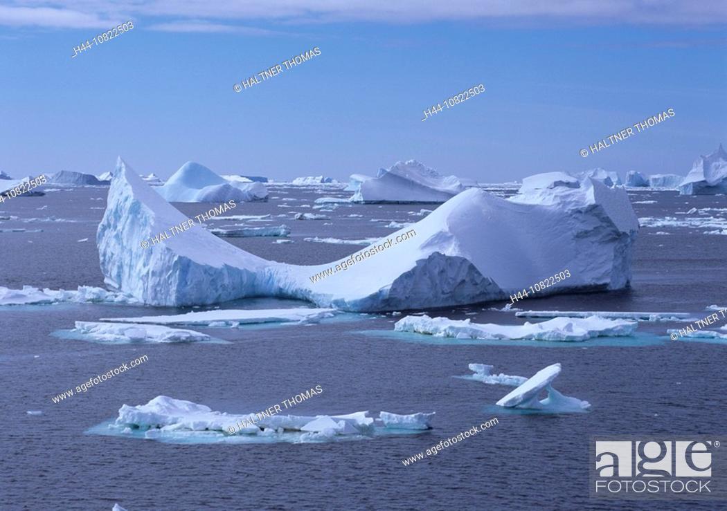 Stock Photo: Antarctic, Antarctic, Antarctic Ocean, cruise, ice scenery, scenery, landscape, drift ice, Icebergs, Iceberg, floes, i.