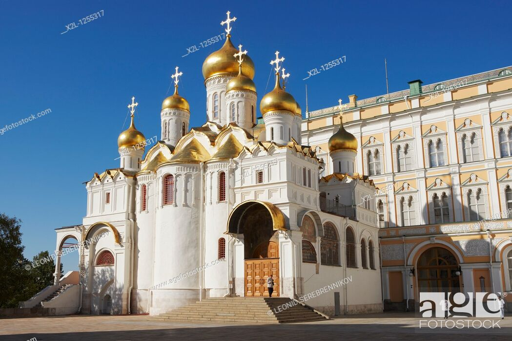 Stock Photo: The Annunciation Cathedral  Kremlin, Moscow, Russia.