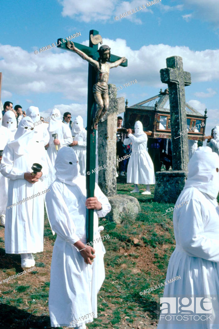 Stock Photo: Holy Week. Bercianos de Aliste. Zamora province. Spain.