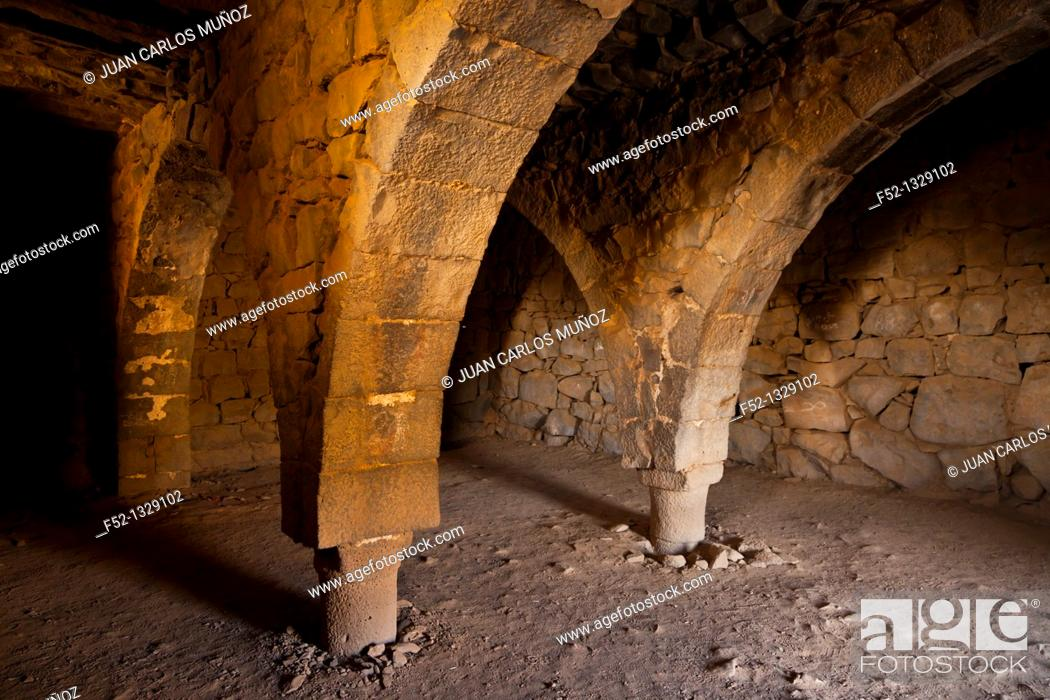 Stock Photo: Mosque in Desert Castle of Al-Azraq, Jordan, Middle East.
