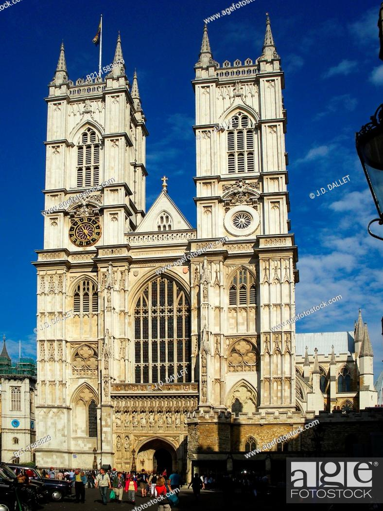 Stock Photo: Westminster Abbey, London, England, UK.