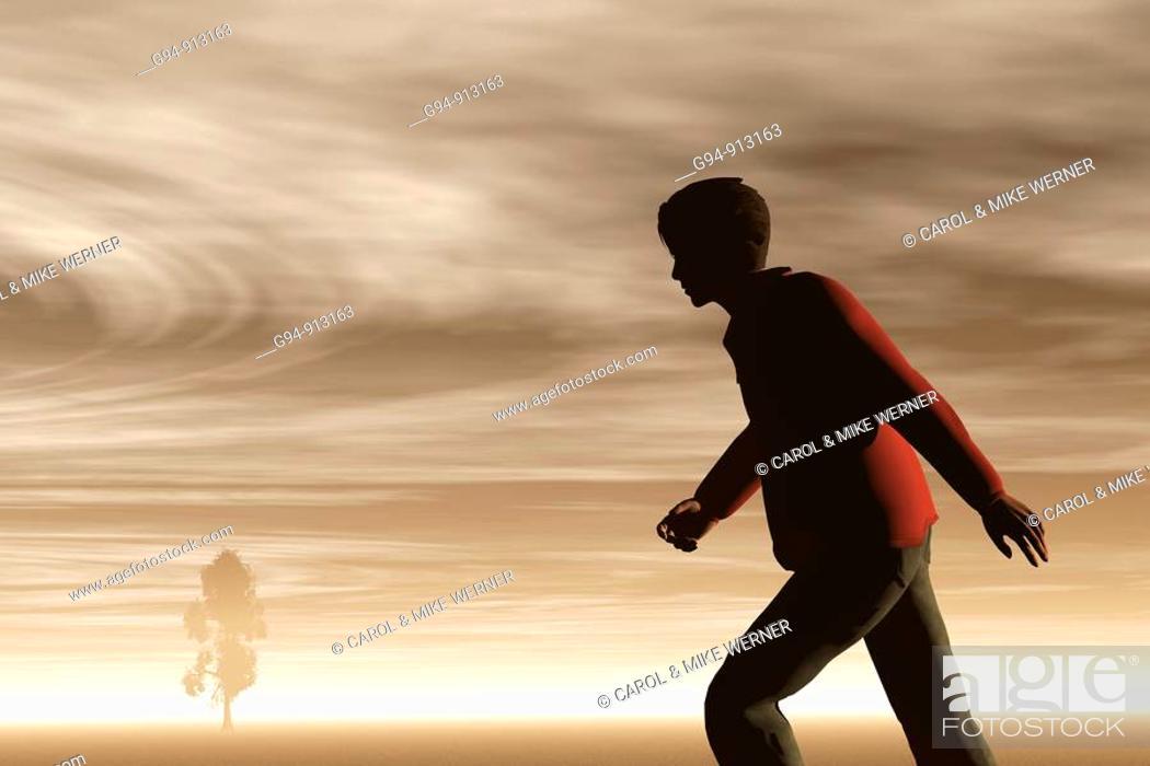 Stock Photo: Man walking.