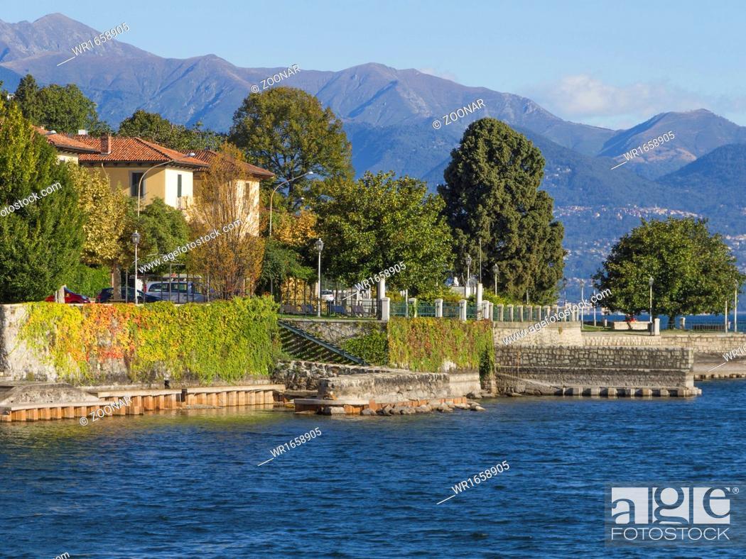 Stock Photo: Belgirate am Lake Maggiore.