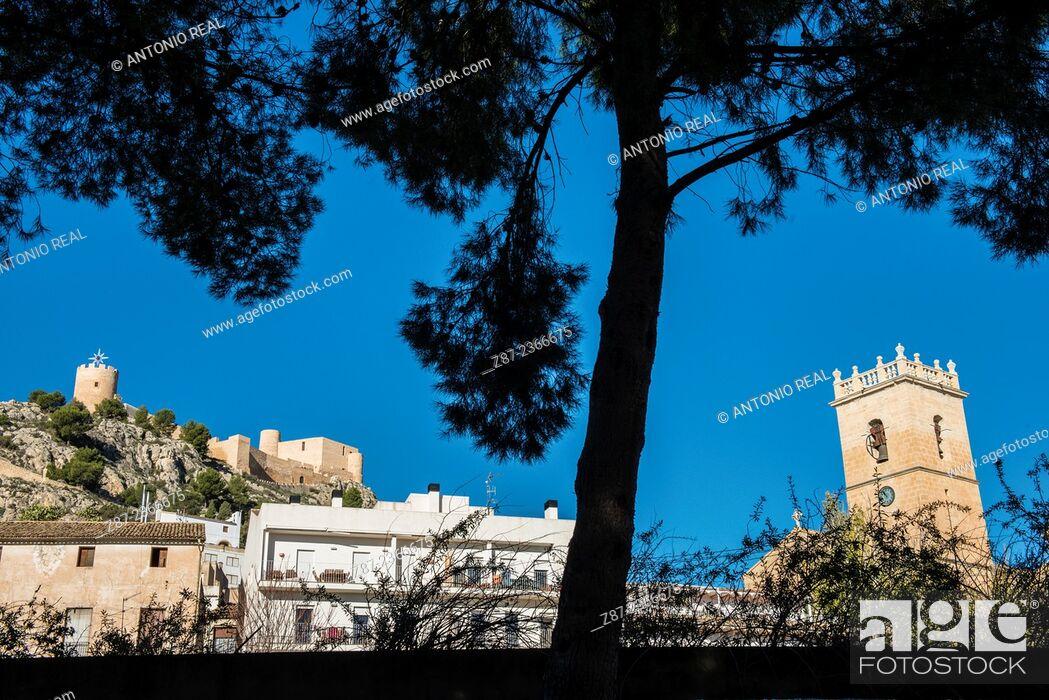 Stock Photo: Castalla, Alicante province, Comunidad Valenciana, Spain.