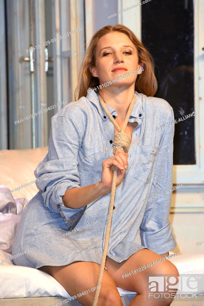 29 October 2018, Bavaria, Munich: Actress Eva-Maria Grein von Friedl (in the role of Claire