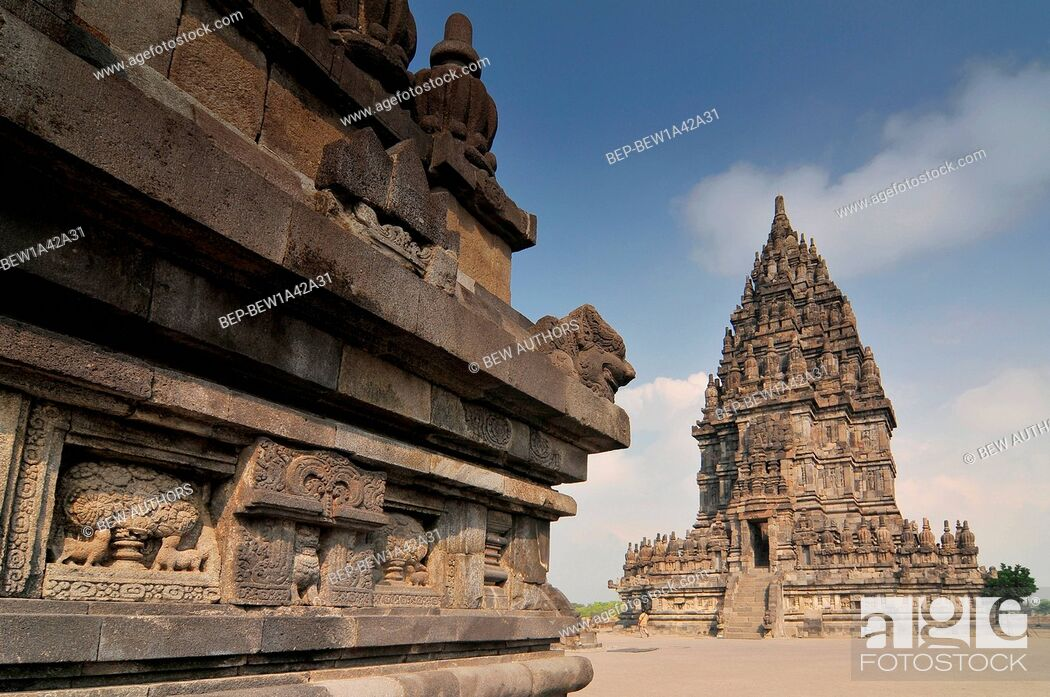 Imagen: Hindu temple Prambanan. Indonesia, Java, Yogyakarta.