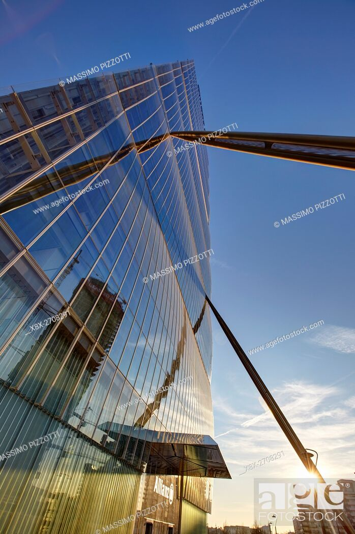 Imagen: Isozaki tower in Milan, Italy.
