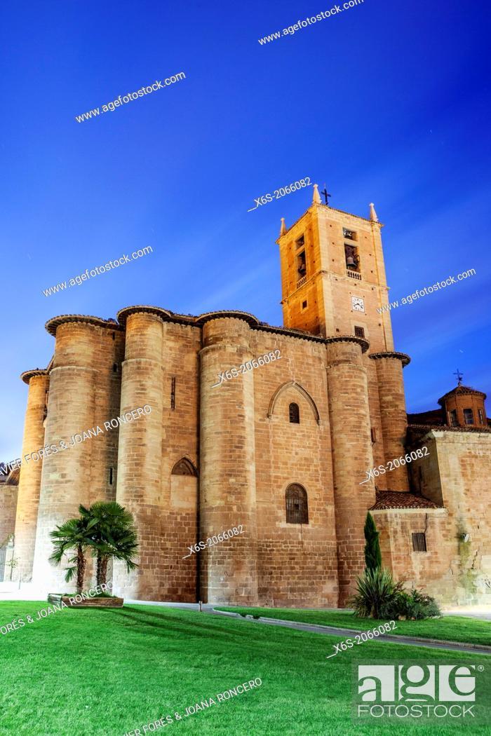Imagen: St. James way; Monastery of Santa Maria la Real in Najera, La Rioja, Spain.