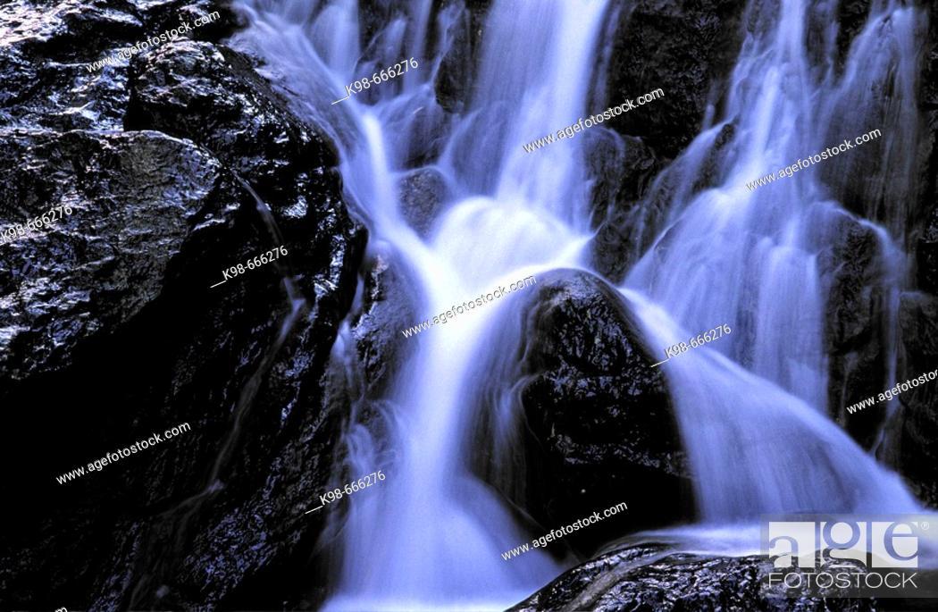 Stock Photo: S'Estret stream, Valldemosa. Serra de Tramuntana, Majorca, Balearic Islands, Spain.