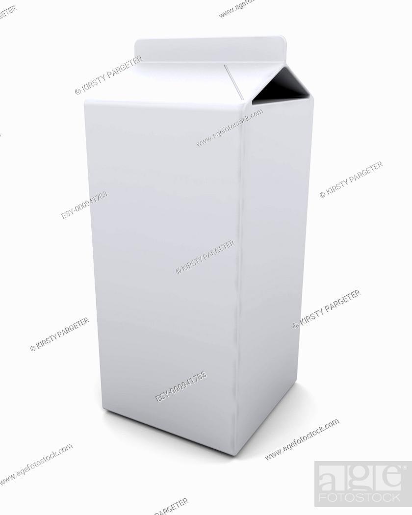 Stock Photo: blank carton.
