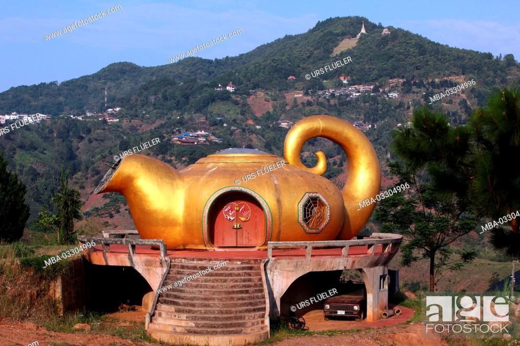 Stock Photo: Asia, South-East Asia, Thailand, Chiang Rai, Mae Salong, tea region,.