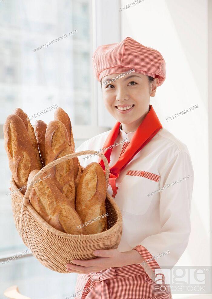 Stock Photo: Bakery clerk.
