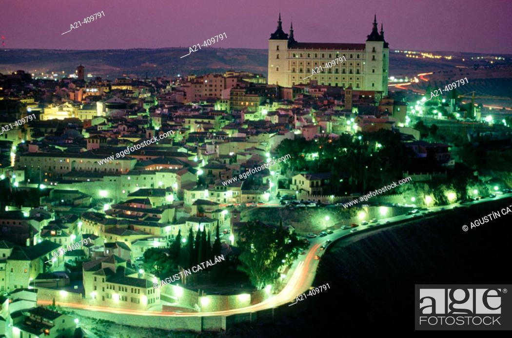 Stock Photo: Alcázar fortress, Toledo. Spain.