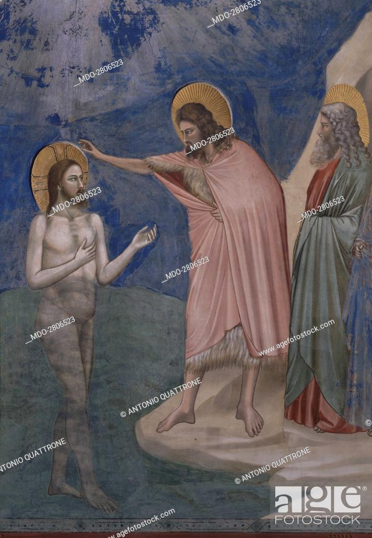 Baptism Of Christ Battesimo Di Cristo By Giotto 1303 1305 14th Century Fresco Stock Photo Picture And Rights Managed Image Pic Mdo 2806523 Agefotostock