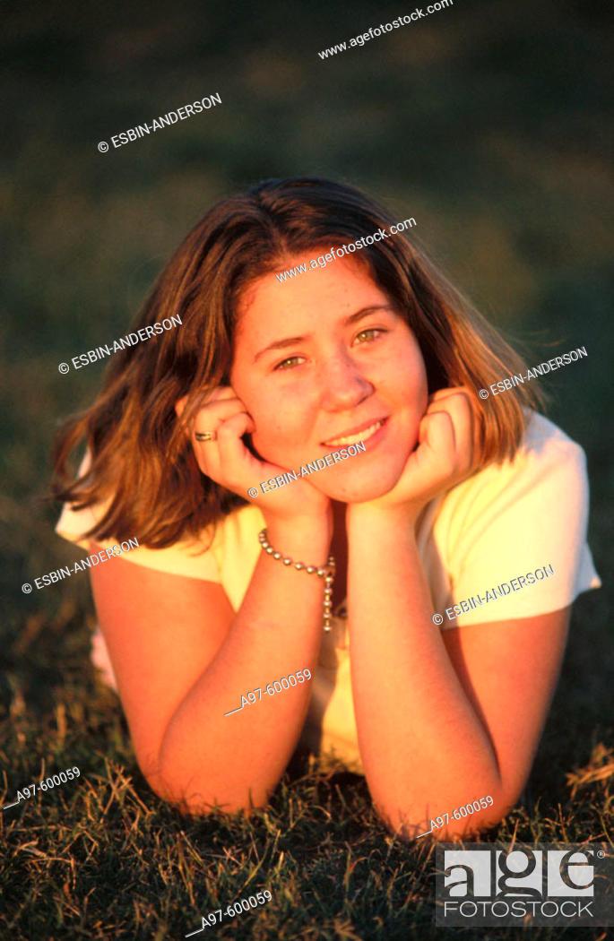 Stock Photo Cute Teen Girl Outdoors