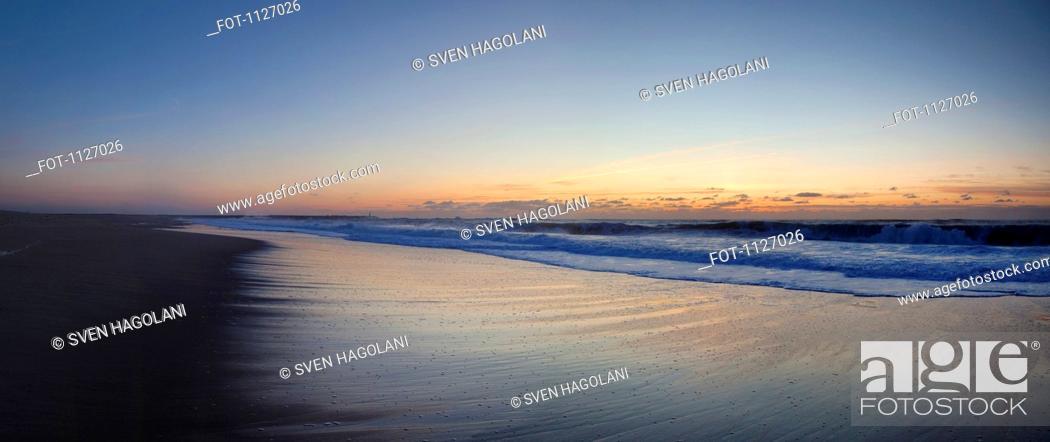 Stock Photo: Beach in Figueira Da Foz, Coimbra, Portugal.