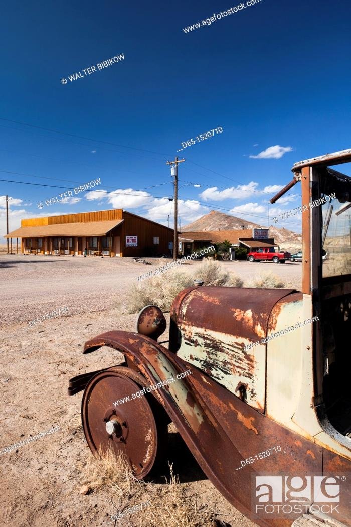 Stock Photo: USA, Nevada, Great Basin, Goldfield, ghost town.
