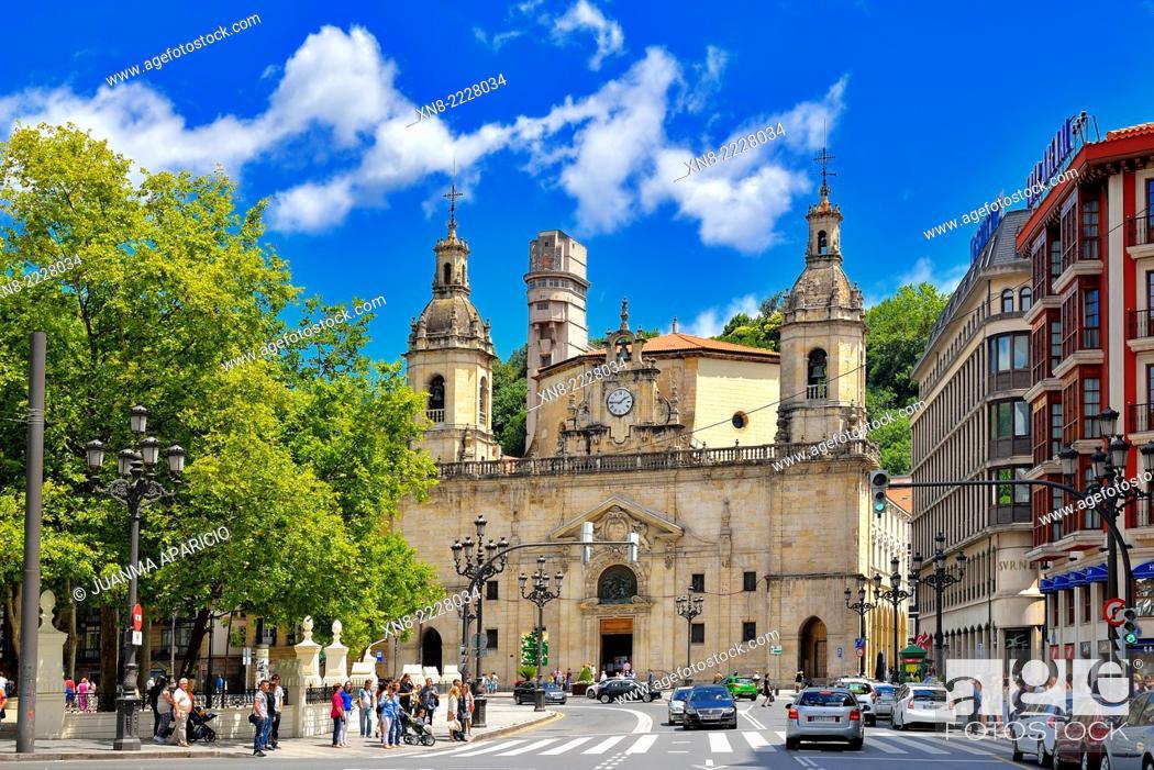 Stock Photo: Church of San Nicolas, Bilbao, Biscay, Basque Country, Euskadi, Spain, Europe.