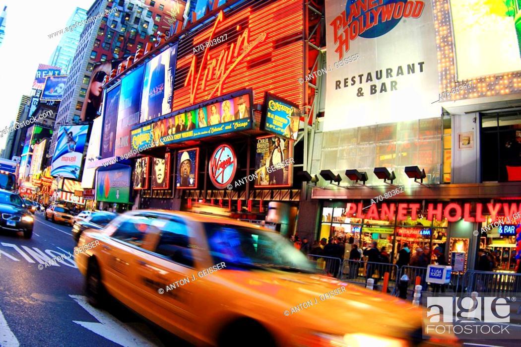 Stock Photo: USA, New York City, Times Square, Manhattan.