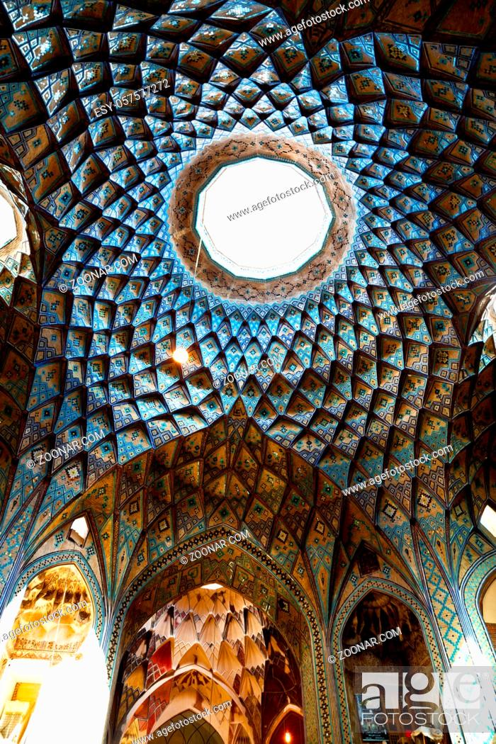 Stock Photo: blur in iran abstract texture of the religion architecture mosque roof persian history.