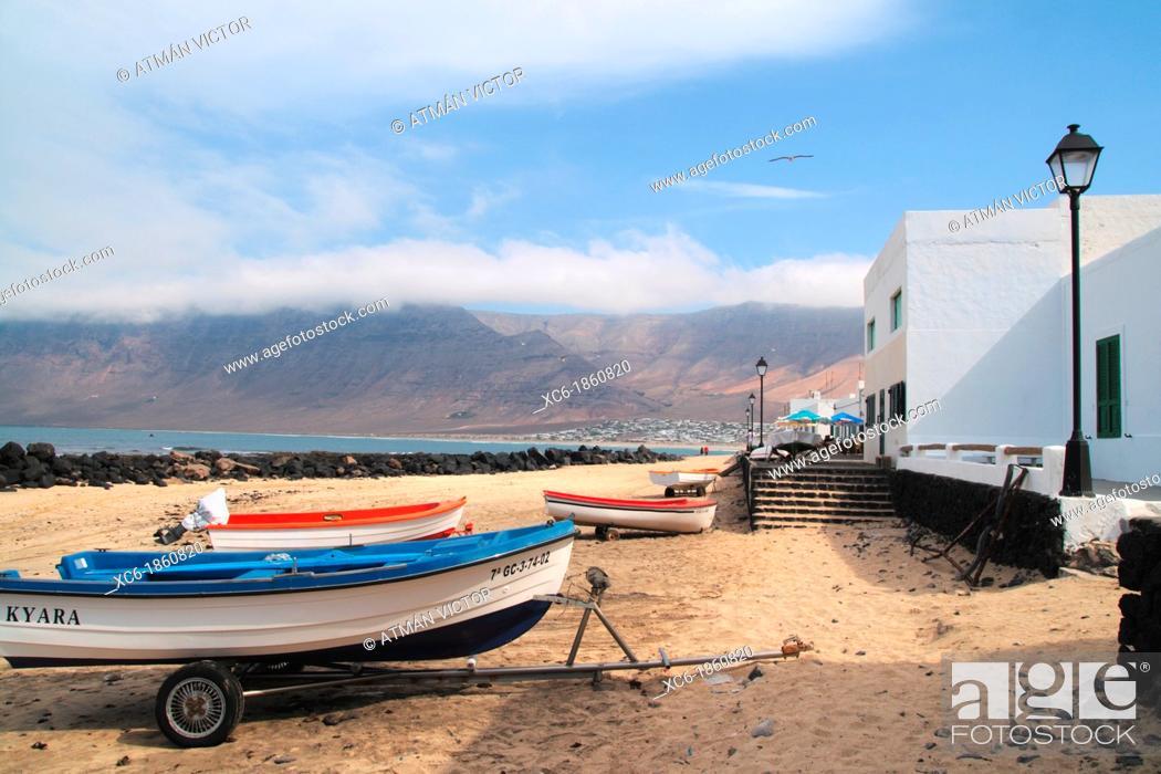 Stock Photo: Puerto de Famara Lanzarote.