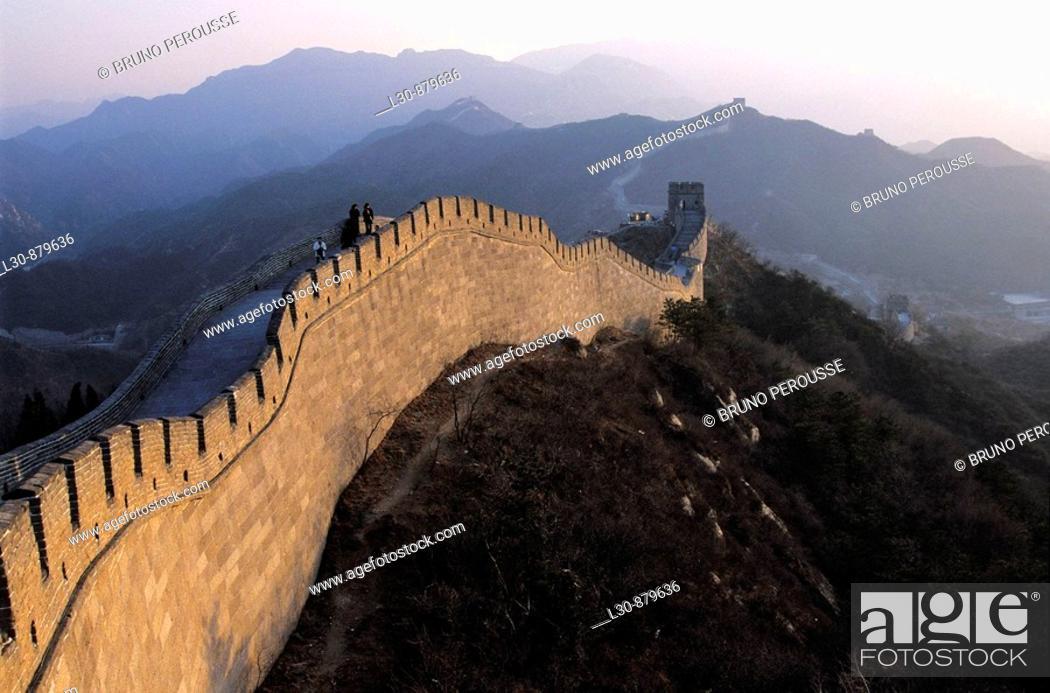 Stock Photo: Badaling, Great Wall, Beijing region, China.