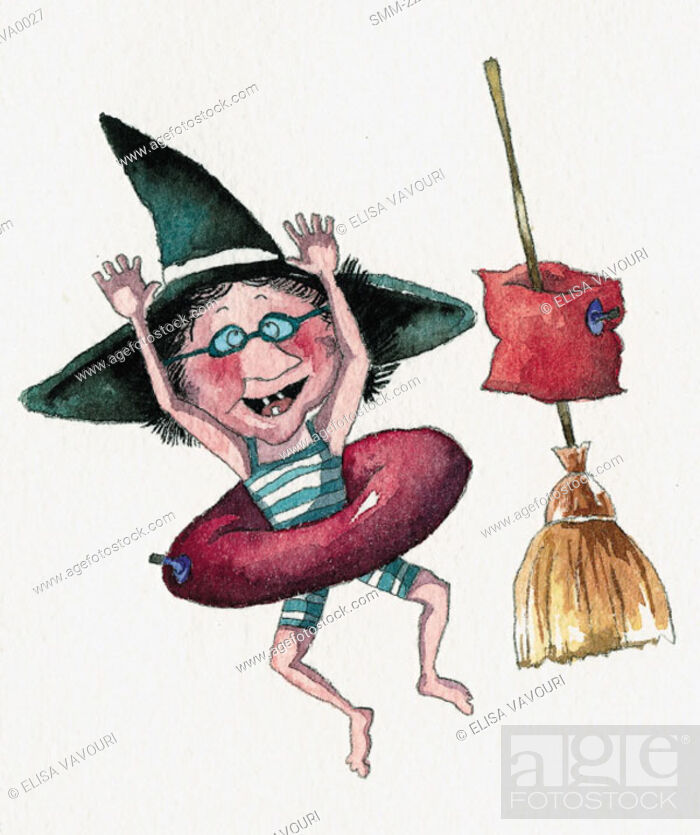 Stock Photo: Witch ready to go swimming.