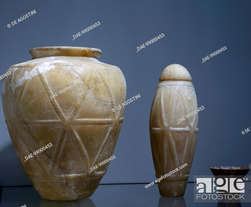 Vases Alabaster Egyptian Civilisation Archaic Period I Dynasty