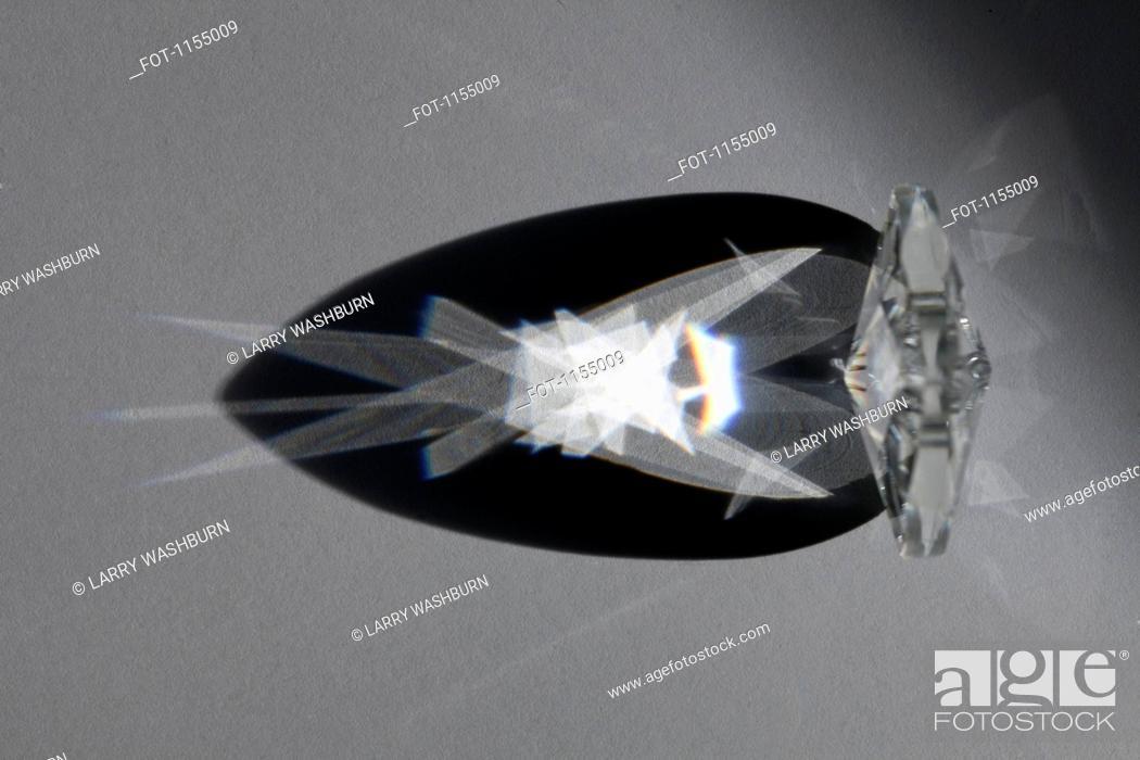 Stock Photo: Diamond refractions.