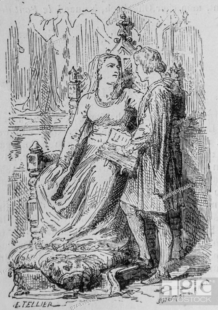 Photo de stock: blanche de castille and saint louis, the illustrious universe, publisher michel levy 1868.