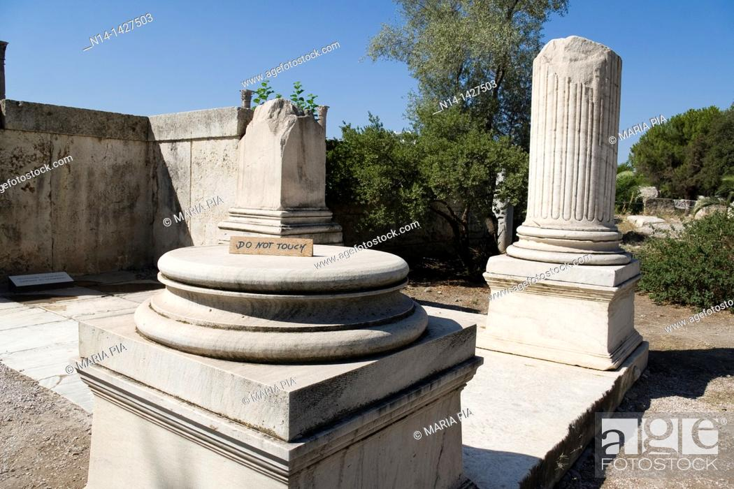 Stock Photo: Entrance to the Temple of Zeus, Athens, Greece.