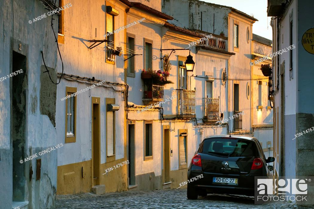 Stock Photo: Streets of Evora, Portugal, Europe.