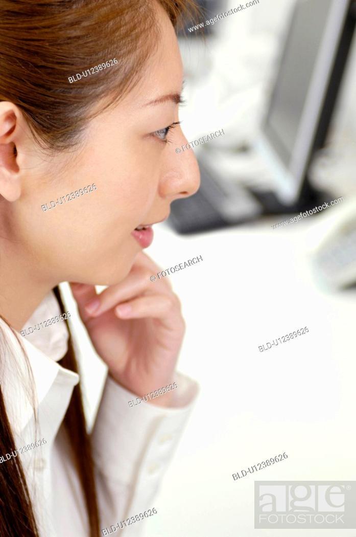 Stock Photo: Business lady.