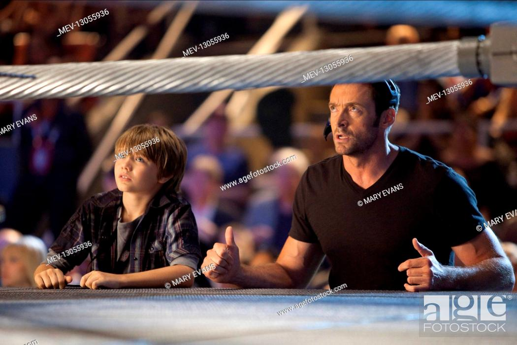 Dakota Goyo Hugh Jackman Characters Max Charlie Kenton Film Real Steel Usa Ind 2011 Director Stock Photo Picture And Rights Managed Image Pic Mev 13055936 Agefotostock