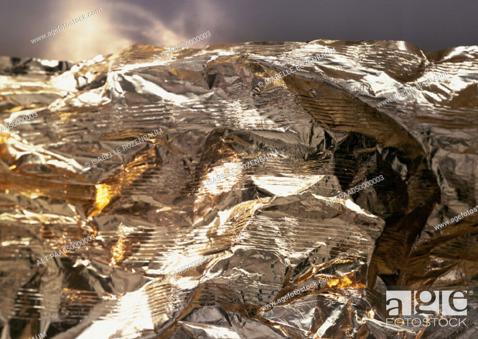 Stock Photo: Foil, extreme close-up.