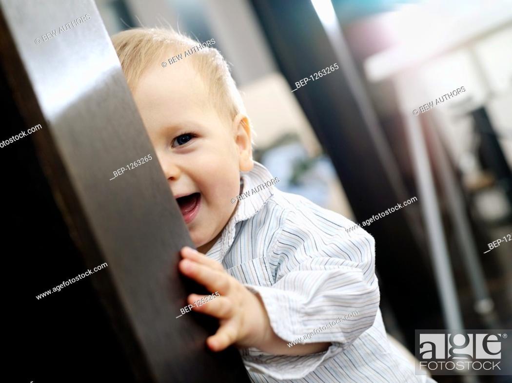 Stock Photo: Baby boy's portrait.