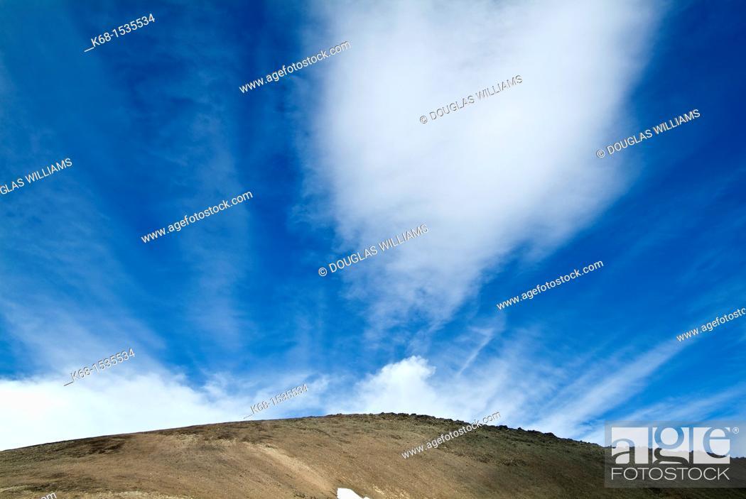 Stock Photo: mountain ridge and cloud in the Cayoosh Range of the Coast Mountains, British Columbia, Canada.