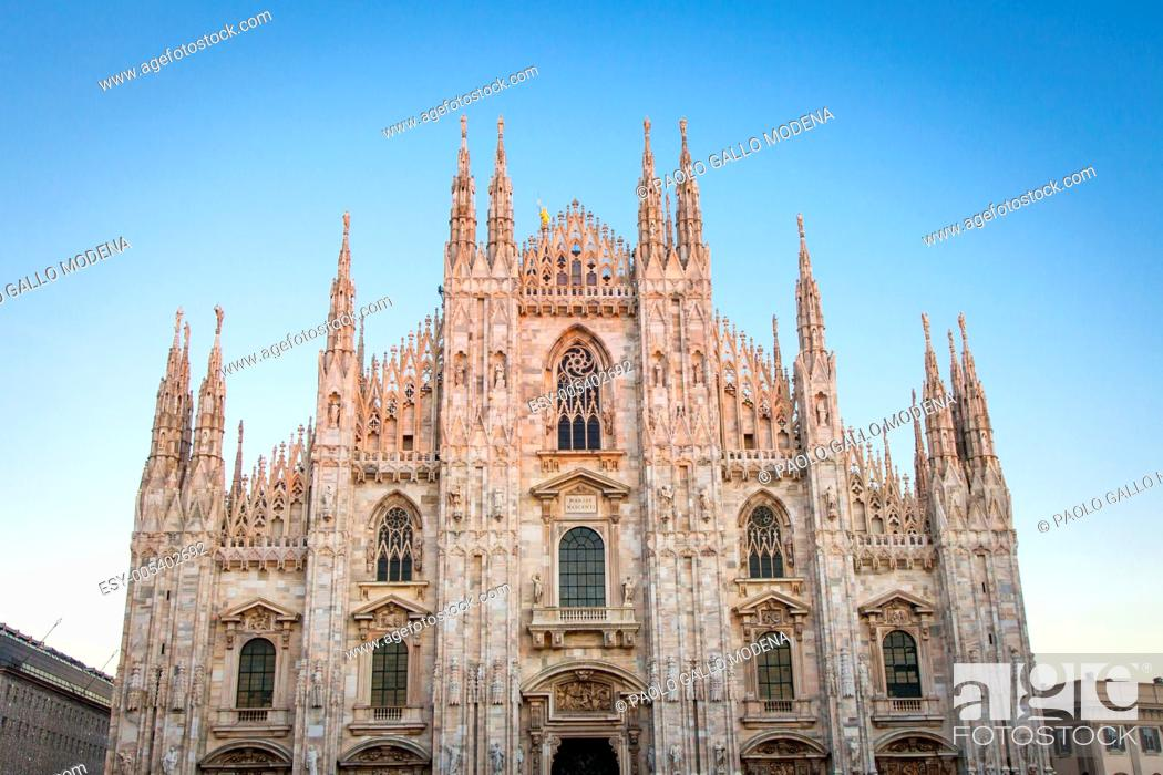 Photo de stock: The famous landmark of Milano city, Italy.