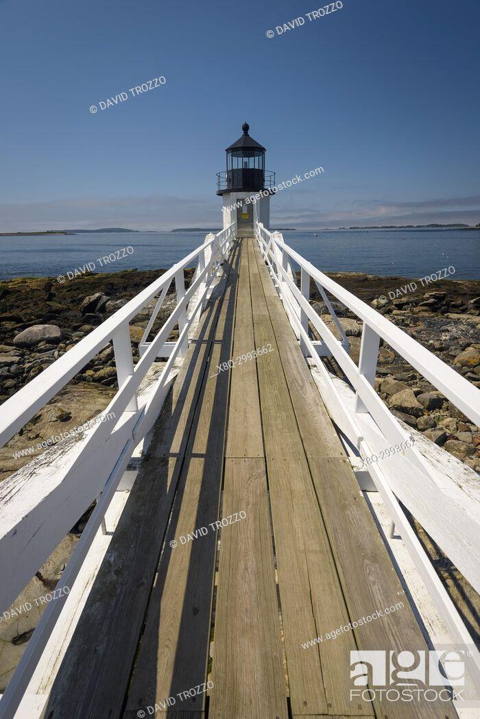 Photo de stock: Marshall Point Lighthouse, Port Clyde, Maine.