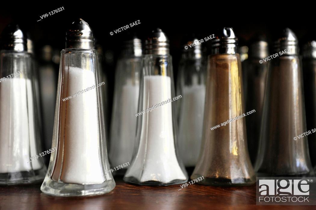 Stock Photo: salt and pepper.