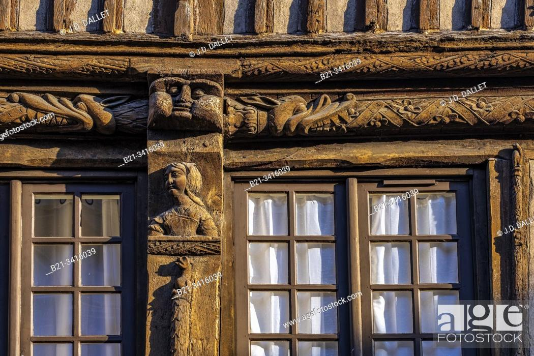 Photo de stock: France, Normandy, Eure, 14th century house at Bernay.
