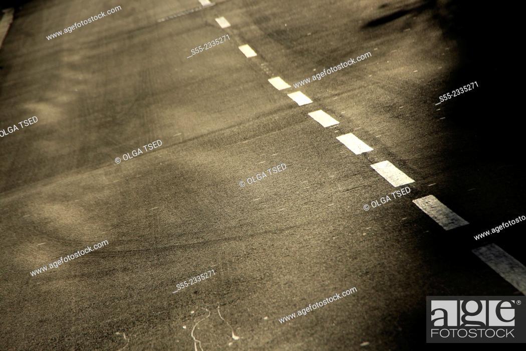 Stock Photo: Road. Esplugues de Llobregat, Barcelona province, Catalonia, Spain.