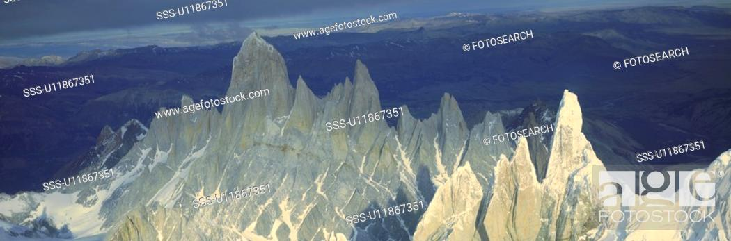 Stock Photo: Panoramic aerial view of Patagonia, Argentina.