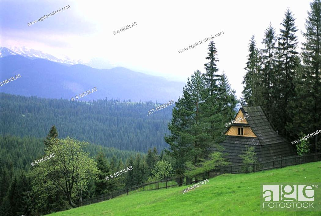 Stock Photo: Poland, near Zakopane, traditional dwelling.