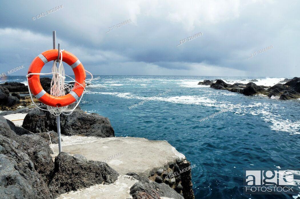 Stock Photo: Lifesaver in Faial island, Azores, Portugal.